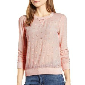 [Lucky Brand] NWT Eyelet Long Sleeve Top